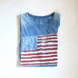 Lucky Brand America Flag Graphic T Shirt Small